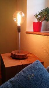 Making Wooden Table Lamps by Edison Glass Cloche Table Lamp Bulbs Industrial And Glass