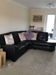 Purple Corner Sofas Dfs Leather Corner Sofa And Spinning Cuddle Chair In Rogerstone