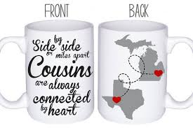 cousins mugs cousin gift idea personalized mugs gift for