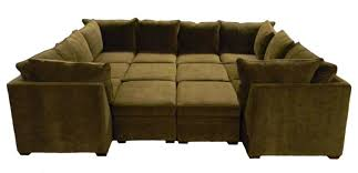 furniture large u shaped sectional couch with ottoman incorporate