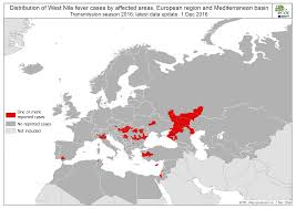 Interactive Europe Map by Nathnac Nathnac West Nile Virus France