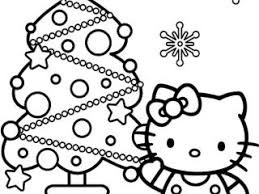 Christmas Coloring Pages Hello Kitty Hello Kitty And Christmas Hello Tree Coloring Page