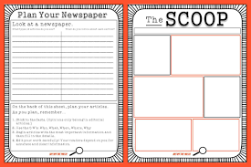 plan paper to write on newspaper template for kids pdf