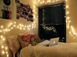 decorating bedroom ideas tumblr frame your bedrooms accent wall in string lights to really make
