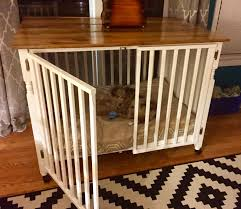 dog barn repurposed crib to dog crate with barn board table top u2026 pinteres u2026