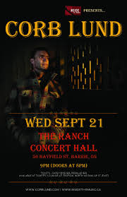 corb lund live in concert u2013 tickets u2013 ranch concert hall u2013 barrie