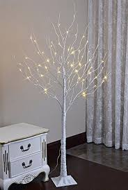lightshare 6 lighted birch tree 72 led lights
