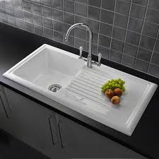 Ceramic Kitchen Sinks Reginox Rl304cw 1 Bowl Reversible White Ceramic Kitchen Sink
