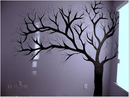 tree wall painting diy room decor for teens bathroom storage over