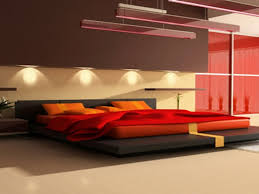 Red Bedroom Accent Wall Small Eat In Kitchen Ideas Recessed Downlights White Exposed Brick