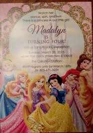 disney princess birthday invitation from etsy my girls
