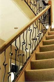 simple elegant wrought iron railing no pickets cast iron scroll
