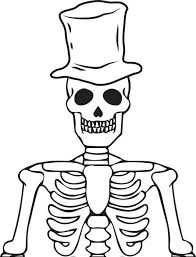 skeleton halloween coloring pages u2013 festival collections