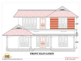Hillside House Plans With Garage Underneath 2d House Plan Sloping Squared Roof Kerala Home Design And