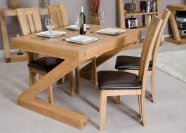 Z Solid Oak Designer  Seater Dining Table FurnitureYourHome - Designer kitchen table