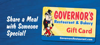 gift cards governor s restaurant bakery