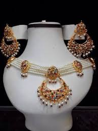 pearl setting necklace images Special offer indian pakistani jewellery white pearl set with jpg