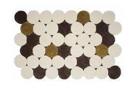 gandia blasco tappeti tapis contemporain à motif en en coton círculos