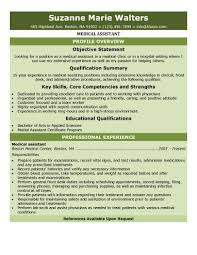 Resume Profile Examples Entry Level by Skills Medical Assistants Resume With Medical Assistant Resume