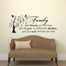family wall decal quote family like branches on a tree vinyl zoom
