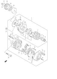 2005 suzuki bandit 1200s gsf1200s alternator parts best oem