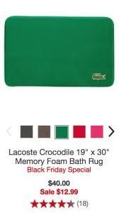 Memory Foam Bathroom Rugs Lacoste Memory Foam Bath Rugs 12 99 Regular 40 00 The