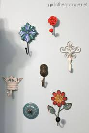 themed wall hooks decorative wall hooks as jewelry storage girl in the garage