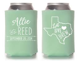 custom wedding koozies custom wedding koozie two less fish in from paperleigh on etsy