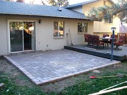 Paver Patio Fabulous Backyard Paver Patio Outdoor Building Ideas Rniture Paver