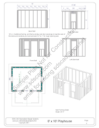 How To Frame A Door Opening How To Build A Playhouse Sds Plans