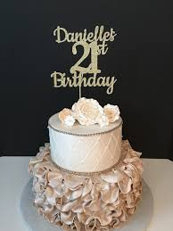 21 cake topper 25 dinosaur wedding cake topper new any name number gold glitter