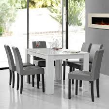 Esszimmertisch Set En Casa Esstisch Weiß Mit 6 Stühlen Hellgrau 140x90 Tisch