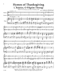 hymns of thanksgiving violin duet with j w pepper sheet