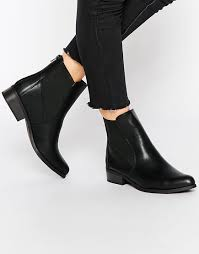 womens boots look image 1 of look flat chelsea boots shoes flat