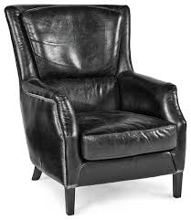 Black Leather Accent Chair Sofa Lovely Black Leather Armchair Transitional Armchairs And