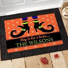 personalized halloween doormats witch