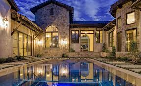 2 story house with pool plan courtyard moreover shaped house plans pool middle home