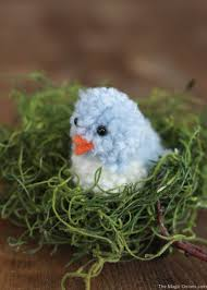 diy pom pom blue bird craft easter and spring crafting the