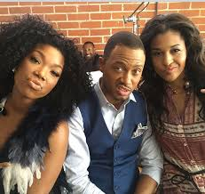 brandy the game hair cut celebrity friends working together terrence j cassie brandy