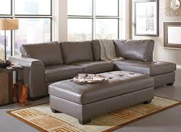outstanding interesting grey leather sectional sofa with gray