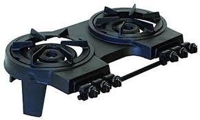 Two Burner Gas Cooktop Propane Hurricane Portable Cast Iron Stove Stoves Venture Marketing Gas