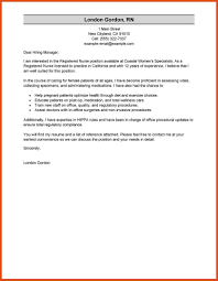 gallery of nurse cover letter sample sample cover letters for