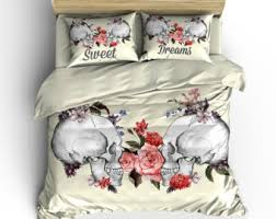 Day Of The Dead Bedding Skull Bedding Day Of The Dead Duvet Comforter Cover Set