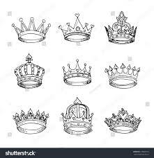 princess crown hand drawn stock illustration 218067010