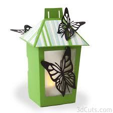3d butterfly lantern 3dcuts com