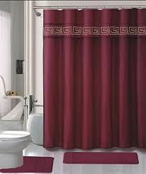 Burgundy Bathroom Rugs Amazon Com 15 Piece Memory Foam Bath Rug Set Bathroom Rugs With