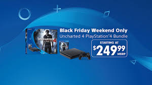 ps4 black friday deal 2017 black friday weekend deal 249 99 uncharted 4 ps4 bundle
