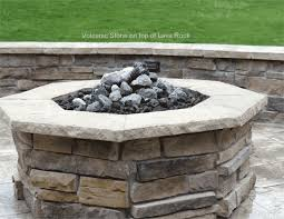 How To Make A Gas Fire Pit by Volcanic Feather Rock For Gas Fire Pits