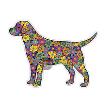 dog sticker car decal laptop decal bumper sticker colorful zoom