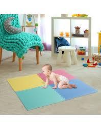 tappeti puzzle per bambini atossici homcom tappeto puzzle 24 pezzi in per bambini